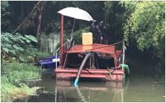 红旗河清淤船作业图-重庆河道清淤