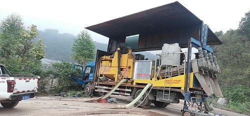 永川城市垃圾处理厂渗漏液沉淀池亚虎国际 唯一 官网现场